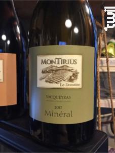 Minéral - Domaine Montirius - 2018 - Blanc