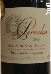 Peraclos - Les Vignerons de Puisseguin Lussac Saint-Emilion - 2010 - Rouge