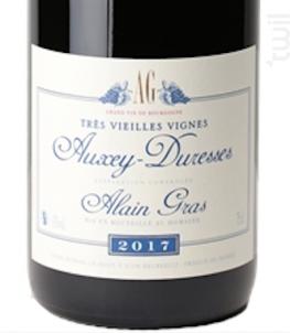 Très vielles vignes - Auxey Duresses - Domaine Alain Gras - 2017 - Rouge