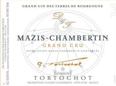 MAZIS CHAMBERTIN Grand Cru - DOMAINE TORTOCHOT - 2016 - Rouge