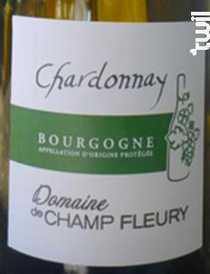 Bourgogne Blanc - Chardonnay - Domaine de Champ-Fleury - 2018 - Blanc