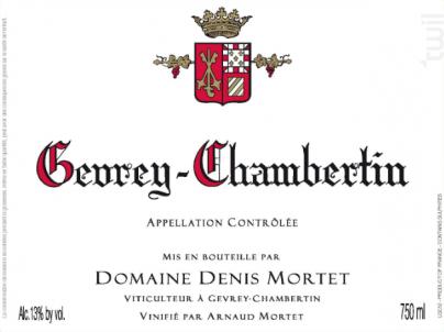 Gevrey-Chambertin Village - Domaine Denis et Arnaud Mortet - 2016 - Rouge