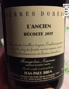 L'ancien - Beaujolais Nouveau - Domaine des Terres Dorées - 2020 - Rouge