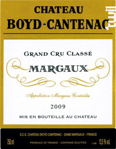 Château Boyd Cantenac - Château Boyd Cantenac & Château Pouget - 2009 - Rouge