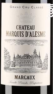 Château Marquis d'Alesme Becker - Château Marquis d'Alesme - 2015 - Rouge