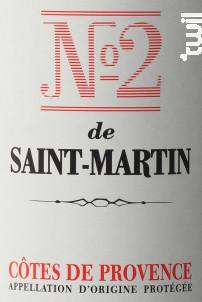Le N°2 de Saint Martin - Château de Saint-Martin - 2018 - Rouge