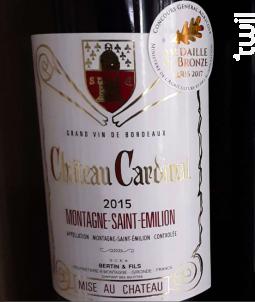 Château Cardinal - Château Cardinal - 2015 - Rouge