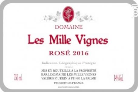Rosé - Domaine Les Mille Vignes - 2018 - Rosé