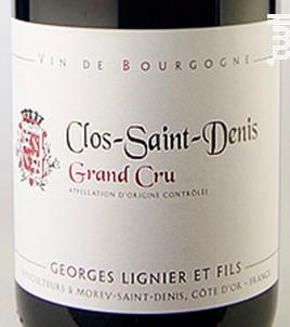 CLOS SAINT DENIS - Georges Lignier & fils - 2003 - Rouge