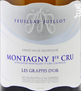 Montagny Premier Cru Les Grappes d'Or - Domaine Feuillat-Juillot - 2018 - Blanc