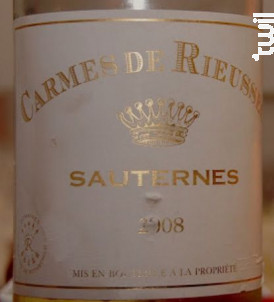Carmes de Rieussec - Domaines Barons de Rothschild - Château Rieussec - 2008 - Blanc