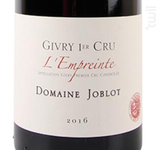 GIVRY 1er cru L'Empreinte - Domaine Joblot - 2016 - Rouge