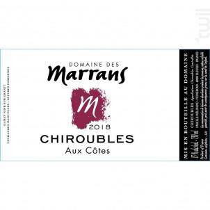 Aux Côtes - Domaine des Marrans - 2018 - Rouge