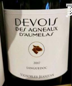 Devois des Agneaux - Devois Des Agneaux D'Aumelas - Vignobles JeanJean - 2017 - Rouge