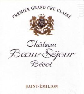 Château Beau-Séjour Bécot - Château Beau-Séjour Bécot - 2014 - Rouge