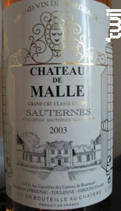Château de Malle - Château de Malle - 2003 - Blanc