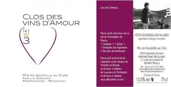 Cuvée 1+1=3 - Clos des Vins d'Amour - 2014 - Rouge