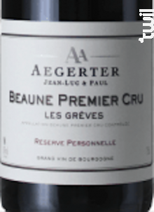 Beaune 1er Cru Grèves - Jean Luc et Paul Aegerter - 2011 - Rouge