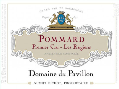 Pommard Premier Cru Les Rugiens - Domaine du Pavillon - Domaines Albert Bichot - 2018 - Rouge