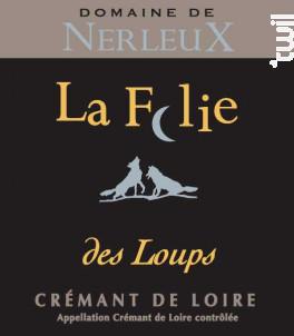 La Folie des Loups Rosé - Domaine de Nerleux - Non millésimé - Effervescent