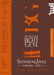 Pinot Gris Grand Cru Sonnenglanz Vendanges Tardives - Domaine BOTT GEYL - 2010 - Blanc