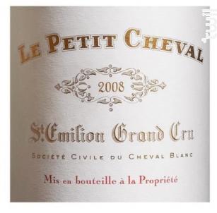Le Petit Cheval - Château Cheval Blanc - 2008 - Rouge