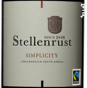Simplicity - Stellenrust - 2016 - Rouge