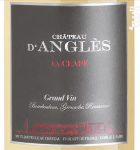 CHÂTEAU D'ANGLÈS GRAND VIN - Château d'Anglès - Non millésimé - Blanc