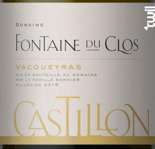 Castillon Blanc - Domaine Fontaine du clos - 2018 - Blanc
