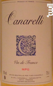 Muscat Petit Grains - Clos Canarelli - Yves Canarelli - 2012 - Blanc