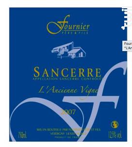 Sancerre L'Ancienne Vigne - FOURNIER Père & Fils - 2015 - Rouge