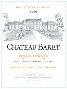 Château Baret - Château Baret - 2016 - Rouge