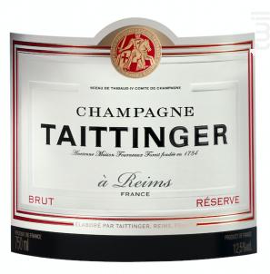 Brut Réserve MAGNUM - Champagne Taittinger - Non millésimé - Effervescent