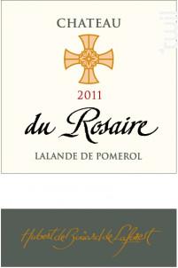 CHÂTEAU DU ROSAIRE - Château Du Rosaire - 2011 - Rouge