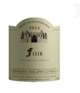 Fixin - Domaine Philippe Livera - 2016 - Rouge