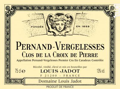 Pernand-Vergelesses - Premier Cru - Clos de la Croix de Pierre - Maison Louis Jadot - 2014 - Rouge