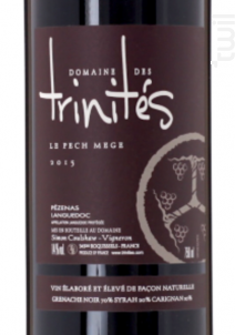 Le Pech Mege - DOMAINE DES TRINITÉS - 2016 - Rouge