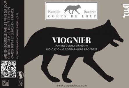 Viognier - Domaine de Corps de Loup - 2017 - Blanc