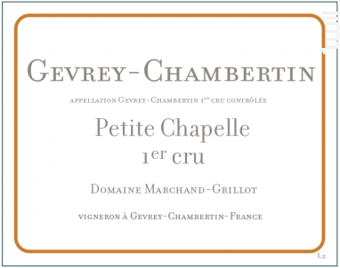 Gevrey-Chambertin Premier Cru Petite Chapelle - Domaine Marchand-Grillot - 2015 - Rouge