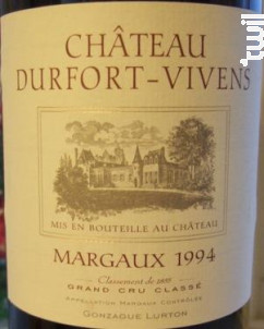 Château Durfort-Vivens - Château Durfort-Vivens - 1994 - Rouge