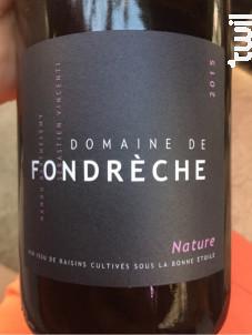 Cuvée Nature - Domaine de Fondrèche - 2017 - Rouge
