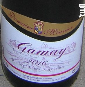 Gamay - Domaine Meunier - 2016 - Rouge