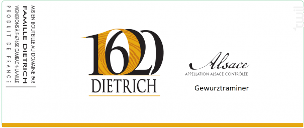 Gewurztraminer - Famille Dietrich - 2016 - Blanc