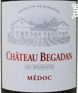 Château Bégadan - Château Begadan - 2016 - Rouge