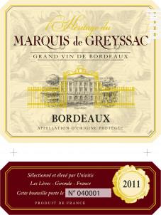 L'hÉritage Du Marquis De Greyssac - Univitis - 2014 - Rouge