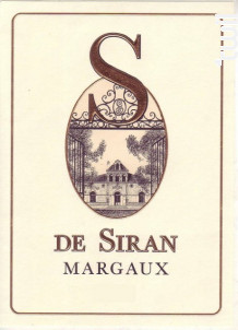 S de Siran - Château Siran - 2016 - Rouge