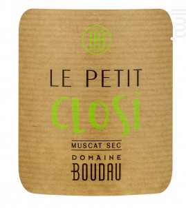 Petit Closi Muscat Sec - Domaine BOUDAU - 2020 - Blanc