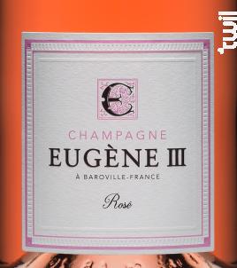 ROSÉ BRUT - Champagne Eugène III - Non millésimé - Effervescent