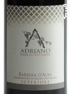 BARBERA D'ALBA SUPERIORE - MARCO E VITTORIO ADRIANO - 2016 - Rouge