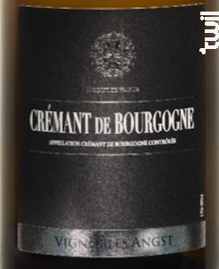 Crémant de Bourgogne - Vignoble Angst - Non millésimé - Effervescent